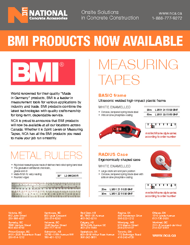 BMI TAPES & LEVELS
