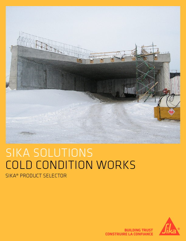 SIKA COLD WEATHER MATERIALS