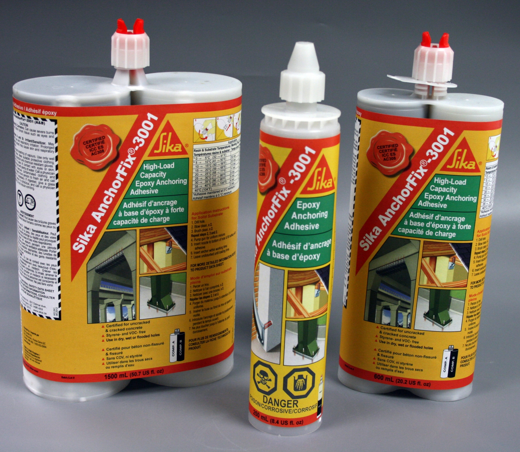 Sika anchorfix 3001 250ml 10 oz cart nca 7686 - Sika anchorfix 3 ...