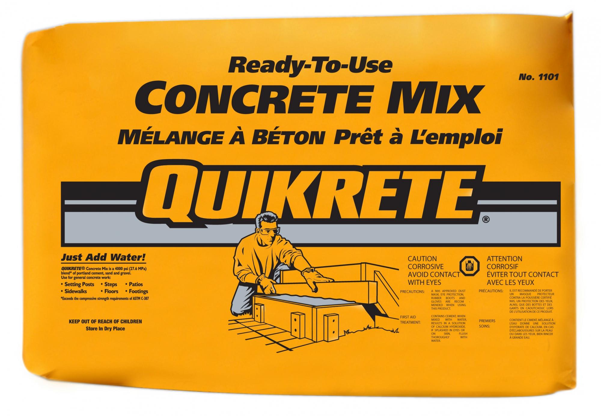 Bagged Concrete Mix 4000 : Quikrete concrete mix kg northland construction supplies