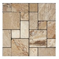 Tile Travertine Picasso Tumbled Mosaic Roman Pattern