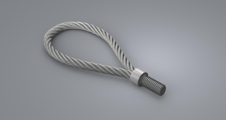Wire Rope Loop - M16, galv   NCA 47367
