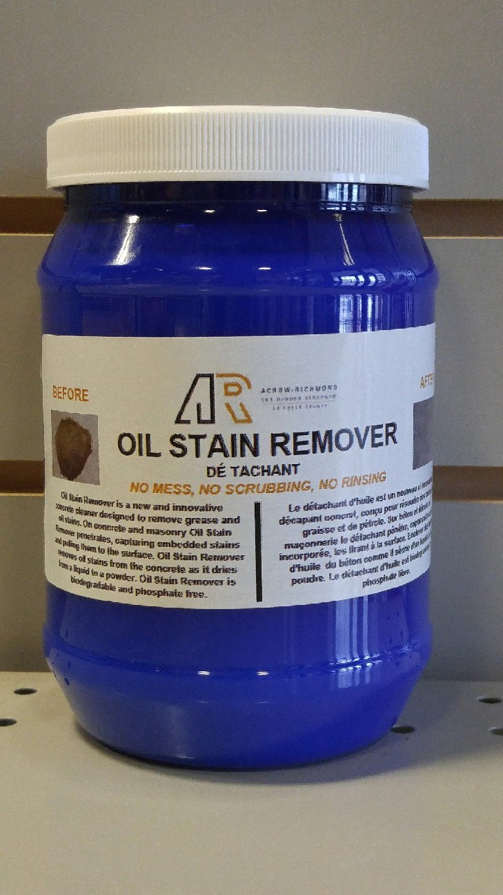 Ar oil stain remover 850ml jar northland construction for Driveway stain remover