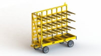 Hand platform cart with multiform rack one sided