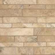 Tile Travertine Picasso F&H Mosaic Random Strip (sheet)(10 sheet/box)